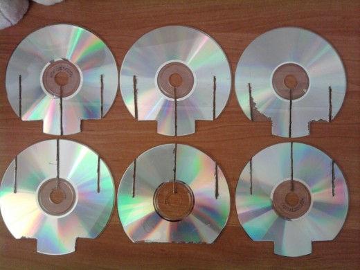 Подставка из дисков