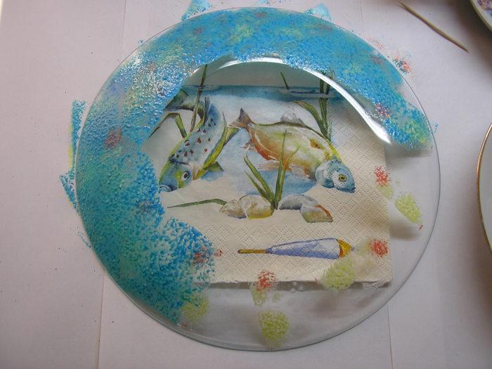 декупаж тарелок для начинающих пошагово с фото из салфеток