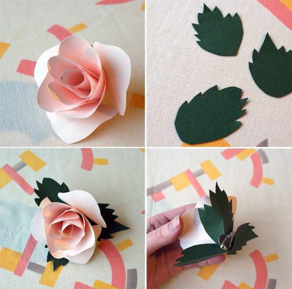 Цветы из цветных бумаг