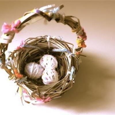 cardboard-nest-easter-basket-crafting