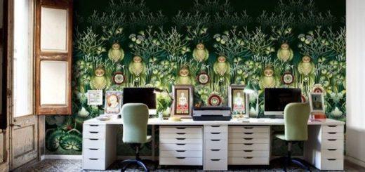 owls-plants-nature-wallpaper-freeze-mural-design