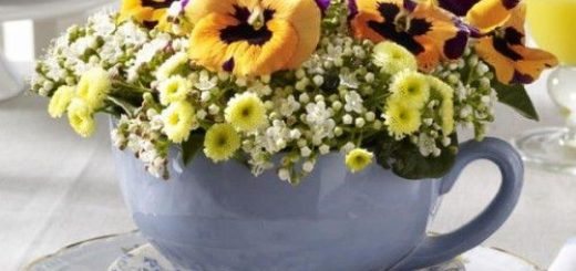 using-tableware-as-planters-and-vases