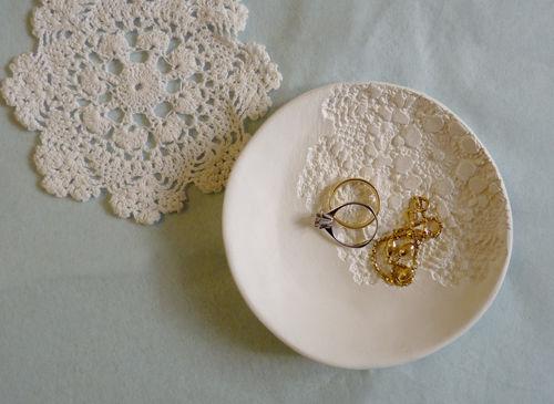 Кружевная тарелка своими руками 54