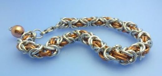 chain maille bracelet blue background_small