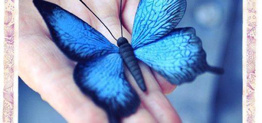 бабочка из флористической глины