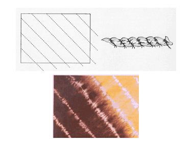 прошивание ткани перед покраской