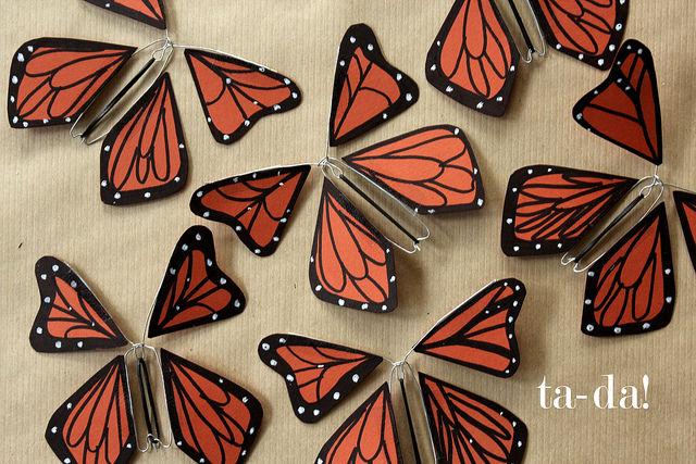 Как делать своими руками бабочку