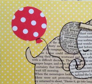 Слоник открытка своими руками