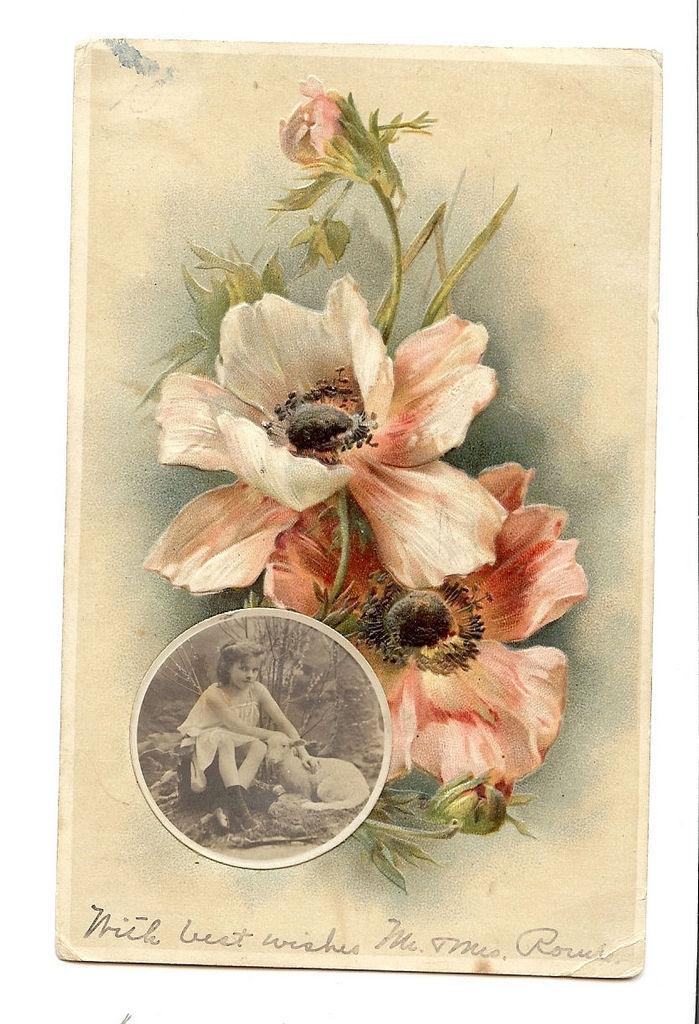 Винтажные открытки для вдохновения и творчества. 95407