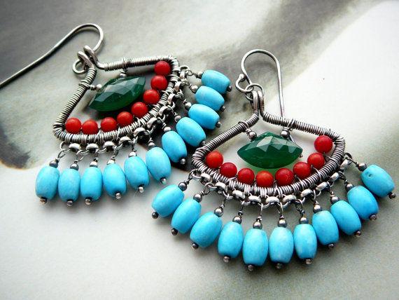 green lotus earrings wire work