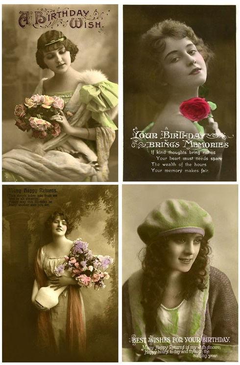 Винтажные открытки для вдохновения и творчества. 56889