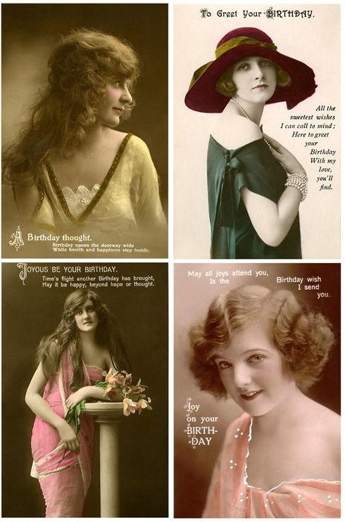 Винтажные открытки для вдохновения и творчества. 10385