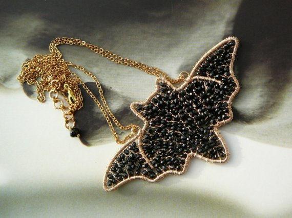 wire work jewelry bat