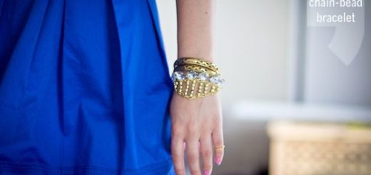 DIY-Gold-Chain-Bead-Bracelet