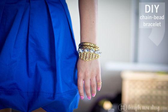 DIY-Gold-Chain-Bead-Bracelet