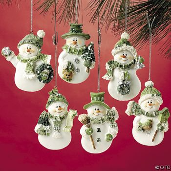 95_2171dCeladonGreenSnowmanOrnaments