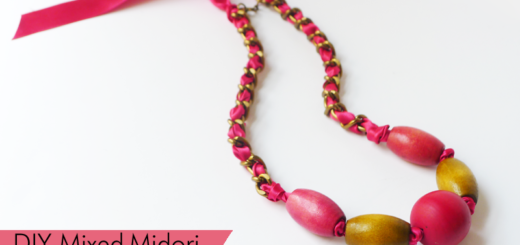 diy mixed ribbon necklace copy