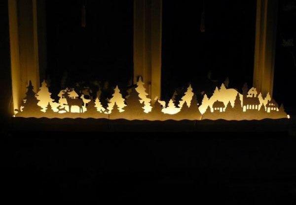 Новогодний городок на подоконнике - украшение из бумаги своими руками