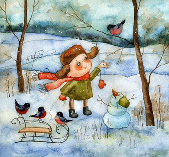 Добрые новогодние картинки Виктории Кирдий. 92976
