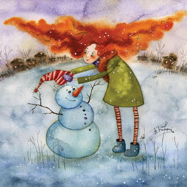 Добрые новогодние картинки Виктории Кирдий. 92394