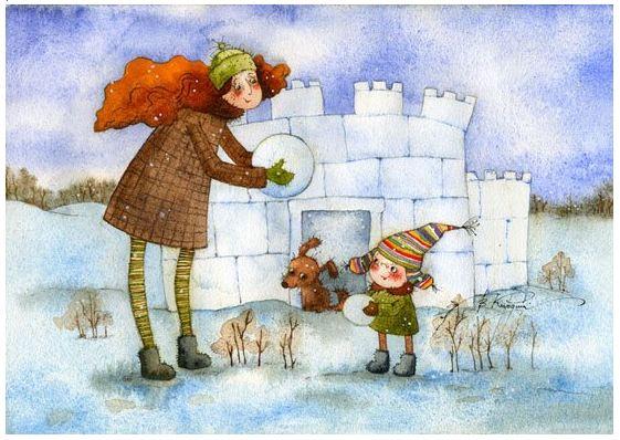 Добрые новогодние картинки Виктории Кирдий. 46337