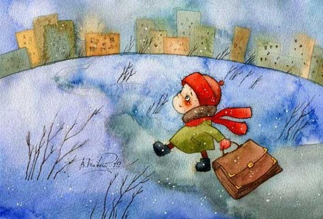 Добрые новогодние картинки Виктории Кирдий. 59554