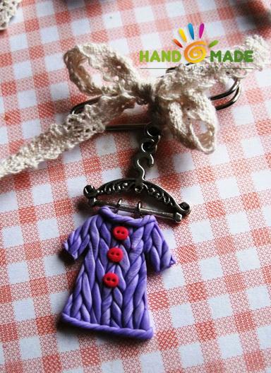 изделия из полимерной глины в технике «имитация вязания»