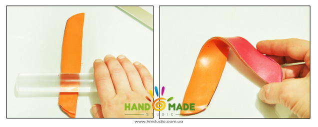 Яркий и интересный браслет из полимерной глины