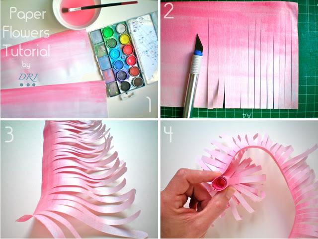 Как сделать цветы из бумаги своими руками поэтапно фото для начинающих
