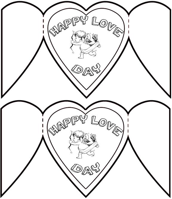 Валентинка открытки маленькие распечатать