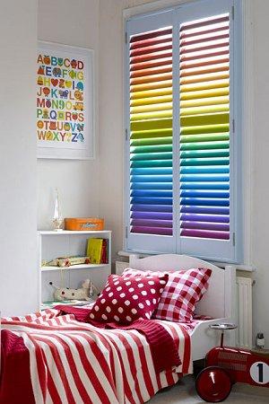 paint a rainbow-rainbow colors decorating ideas-rainbow theme bedrooms