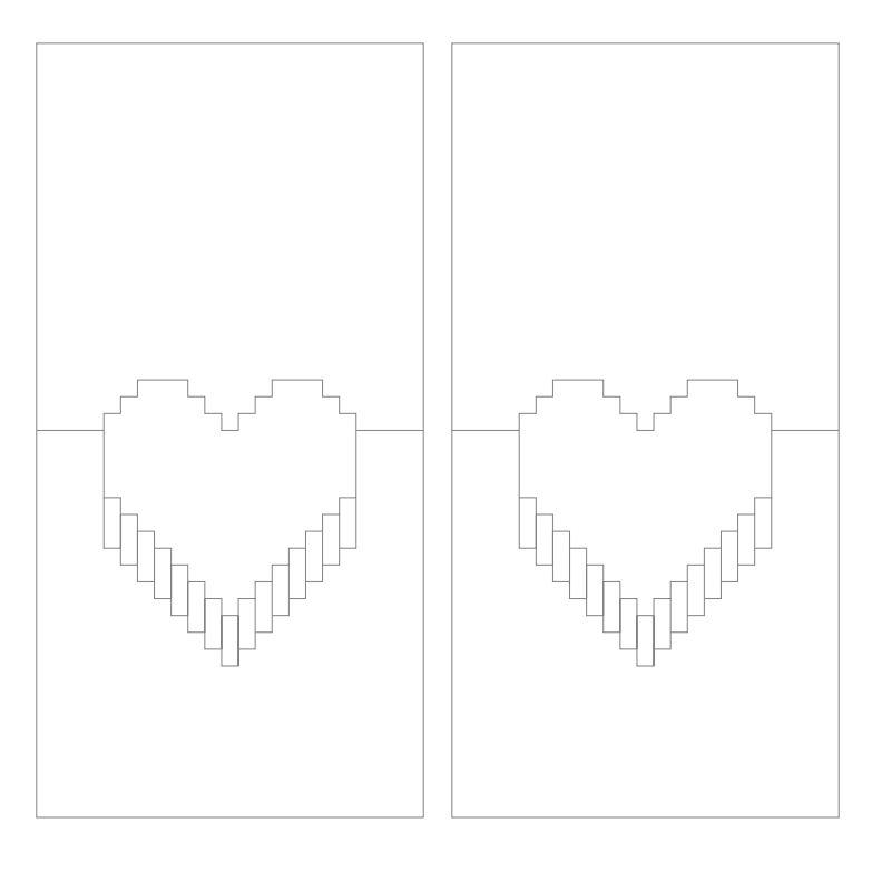 Объемную открытку шаблоны