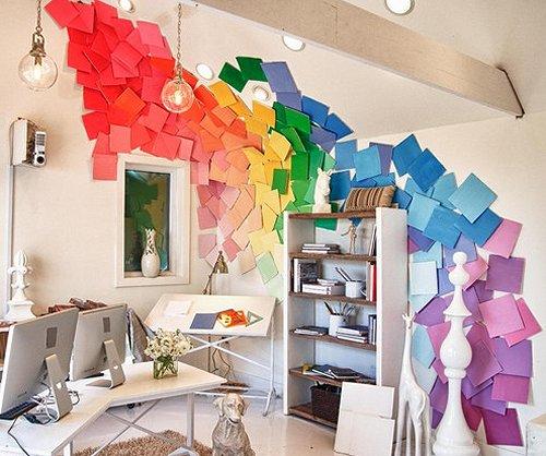 rainbow diy wall decorations paint samples rainbow themed wall decorations