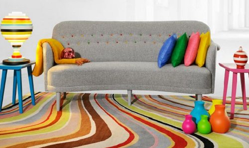 rainbow style decorating ideas-rainbow of colors-decorating bold colors