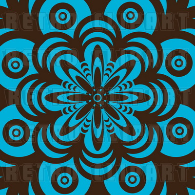royalty-free-retro-brown-and-turquoise-flower-background-by-michaeltravers-879