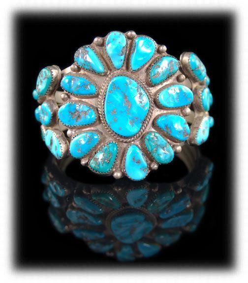 vintage_navajo_cluster_turquoise_bracelet_1981lar
