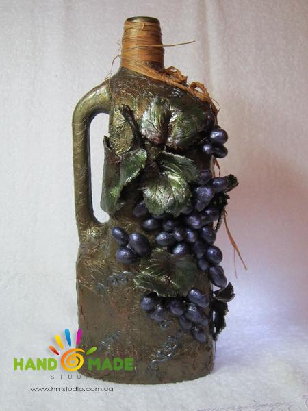 Декор бутылки для вина