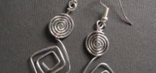 aluminum double spiral earrings