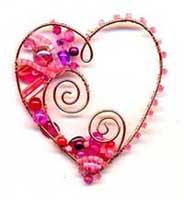 bead studio beaded wire heart