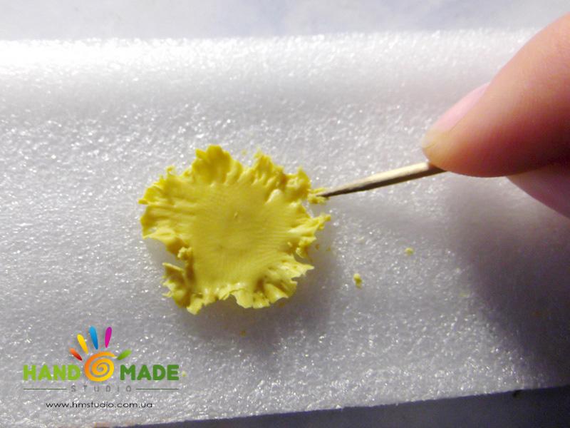 Брошь «Лесная» из полимерной глины
