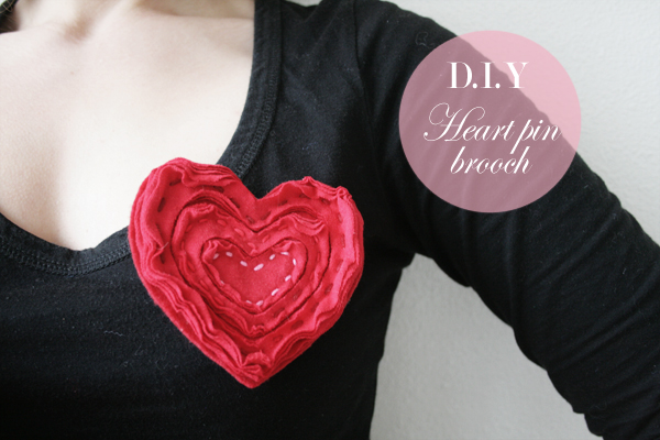 heart pin brooch labeled
