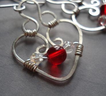 small_heart earrings sterling silver 5