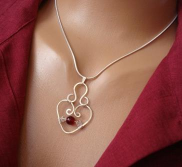 small_heart sterling silver necklace 2