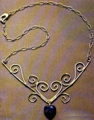 wire heart focal necklace tutorial