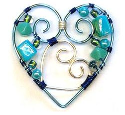 wire wrapped heart tutorial 1