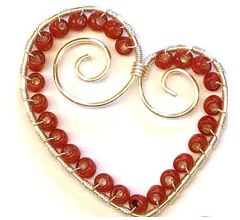 wire wrapped heart tutorial 2