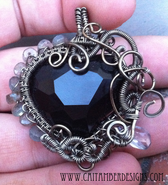 wire wrapped heart tutorial 3
