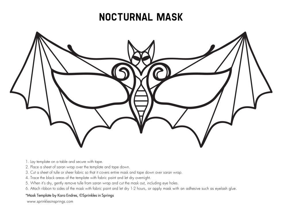 Шаблон маска карнавальная своими руками