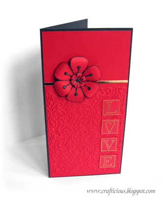 CRAFTICIOUS POP UP FLOWERS CARD OPEN2