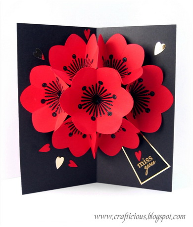 CRAFTICIOUS POP UP FLOWERS CARD2